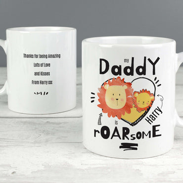 Personalised Roarsome Fathers Day Mug