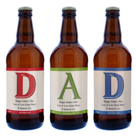 Personalised Set of 3 D.A.D Beers
