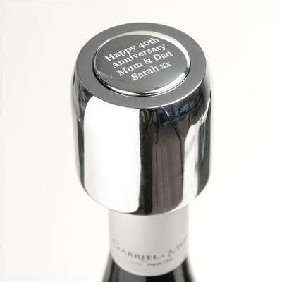 Personalised Silver Champagne Stopper