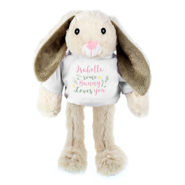 Personalised 'Some Bunny Loves You' Bunny Rabbit In T-Shirt