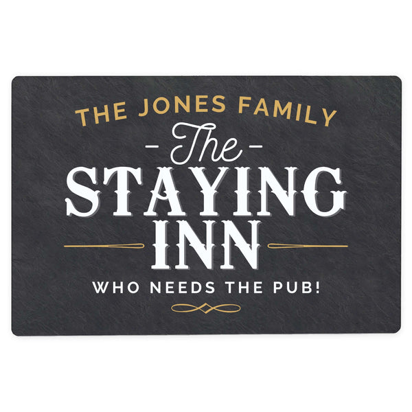 Personalised Staying Inn Metal Sign
