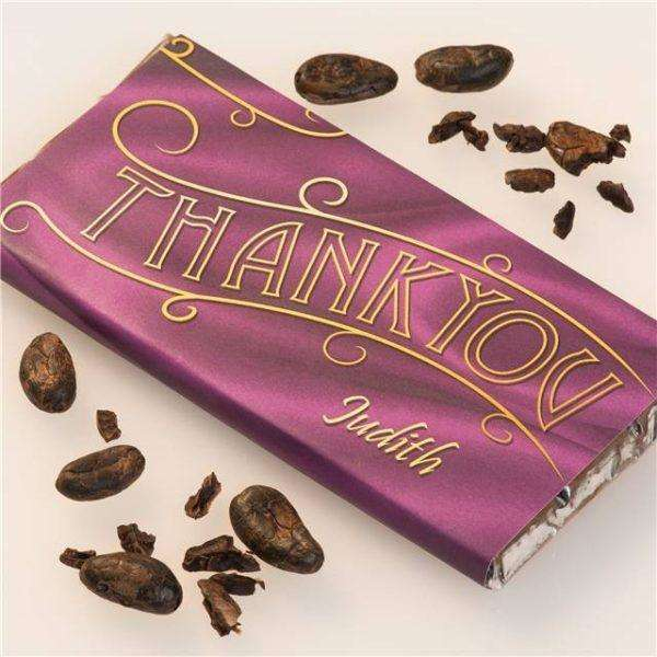 Personalised Thank You Chocolate Bar