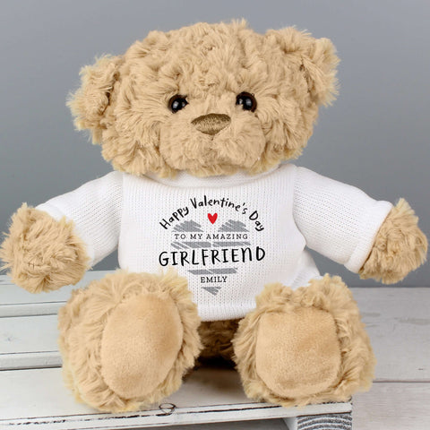 Personalised Valentine's Day Teddy Bear