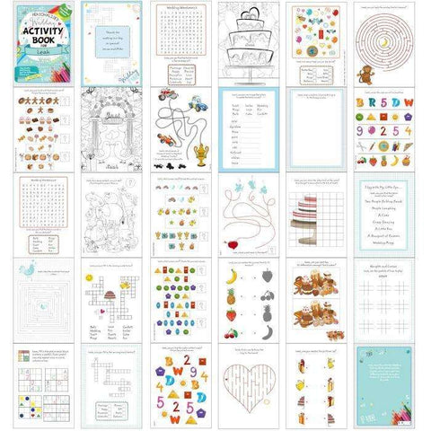 Personalised Wedding Activity Book with Stickers
