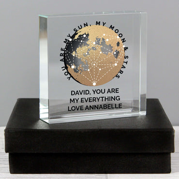 Personalised You Are My Sun My Moon Large Crystal Token
