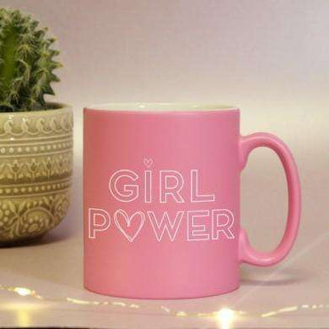 Girl Power Pink Satin Mug