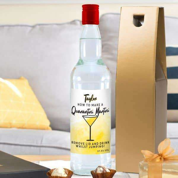 Quarantini Martini Personalised Vodka