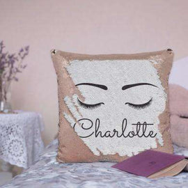 Rose Gold Eyelash Sequin Cushion
