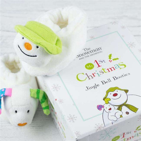 Snowman & Snowdog First Baby Booties
