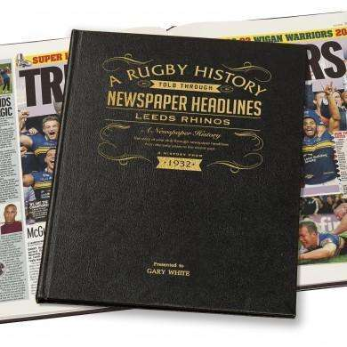 Leeds Rhinos Rugby Newspaper Book