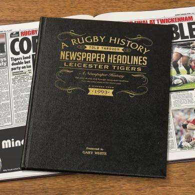 Leicester Tigers Rugby Newspaper book