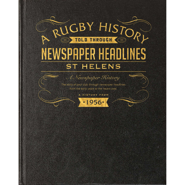 St Helens Rugby Newspaper Book
