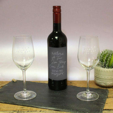 True Love Story Red Wine Gift Set