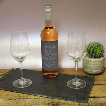 True Love Story Rose Wine Gift Set