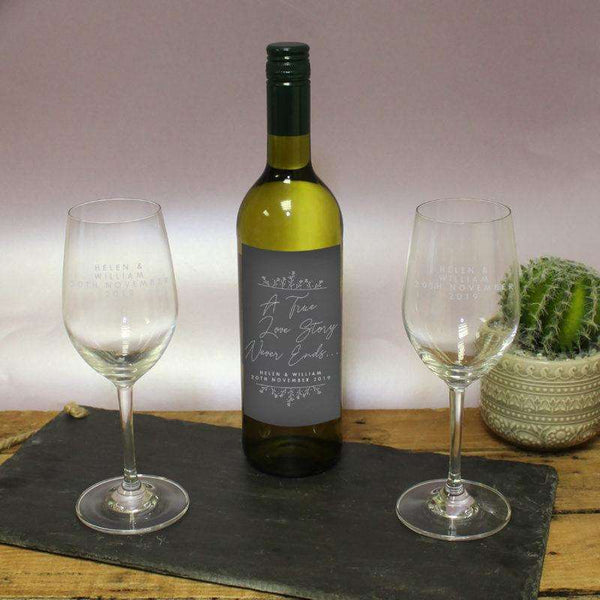True Love Story White Wine Gift Set