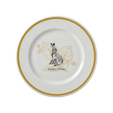 Watership Down 10″ Rimmed Plate – Clover