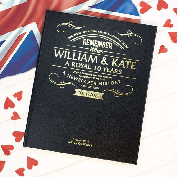 William and Kate Anniversary Newspaper