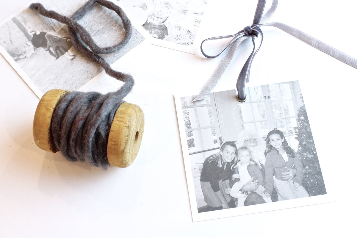 Quick and Easy Modern DIY Photo Ornaments in Under 5 Minutes