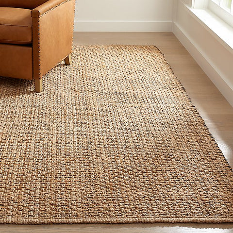 Crate and Barrel jute rug
