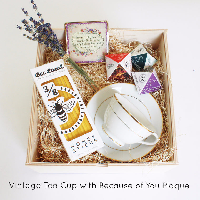 Limited Edition Tea Set with Vintage Tea Cup (Vintage Gold)