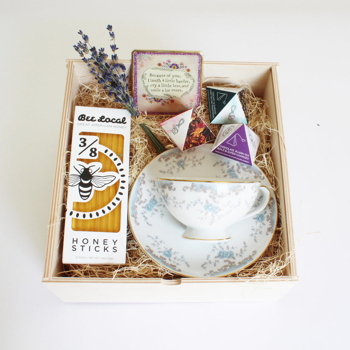 Limited Edition Tea Set with Vintage Tea Cup (Antique Blue)