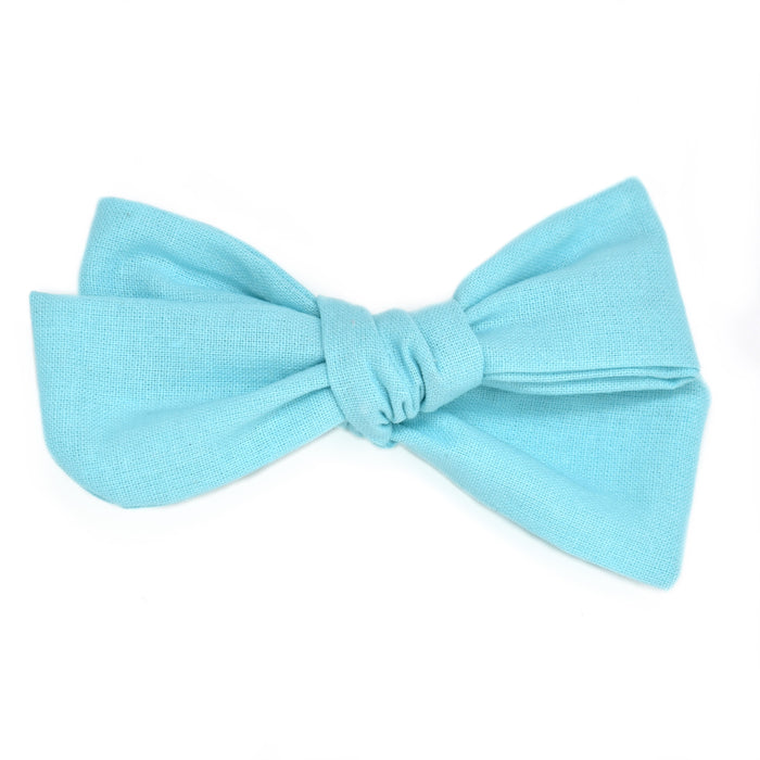 Aqua Blue Large Hand-Tied