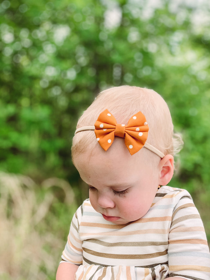 Summer Dots in Orange {mini}