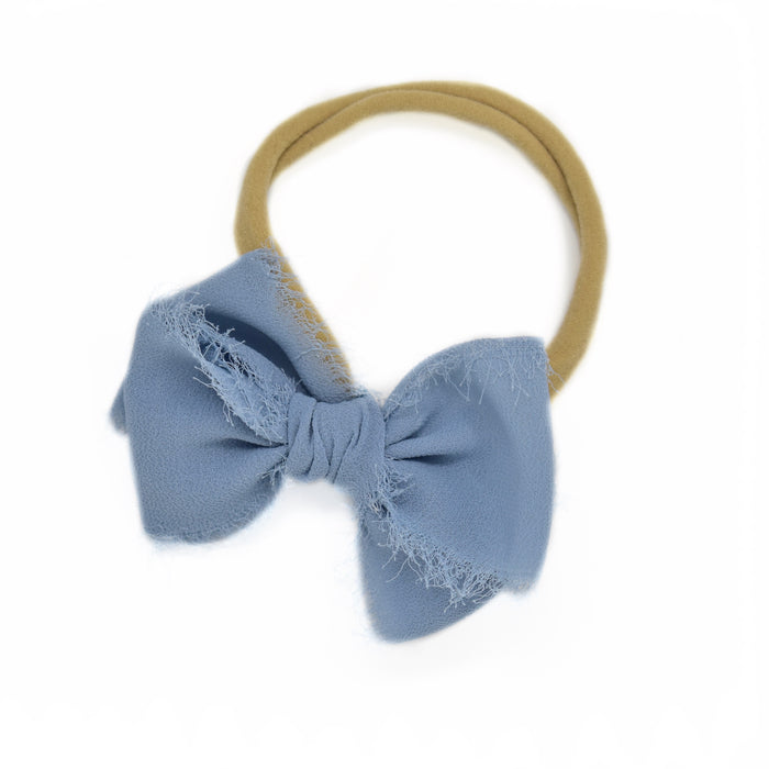 Dusty Blue Chiffon Large Hand-Tied