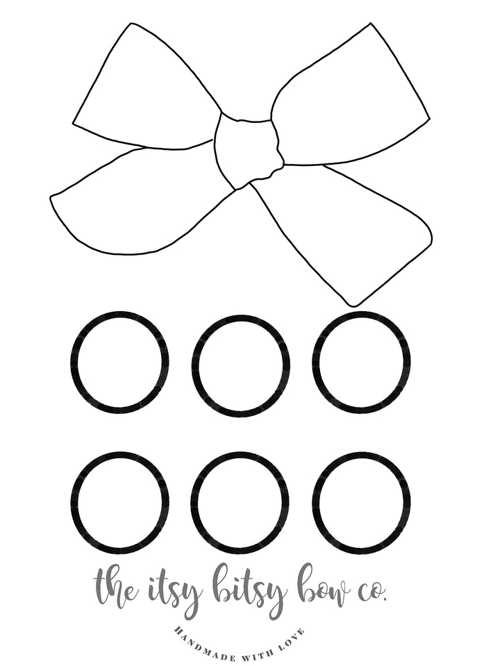 Large Hand Tied Coloring Printable