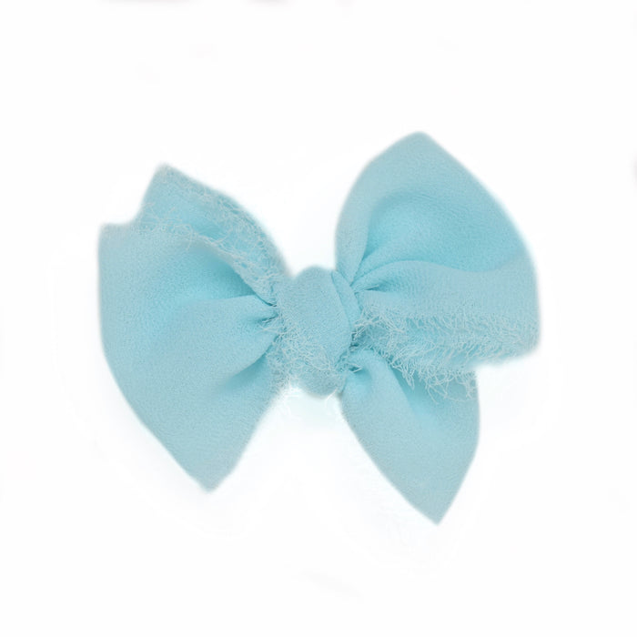 Summer Blue Chiffon Large Hand-Tied