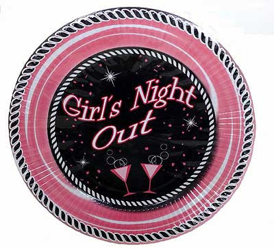 Girls Night Party Plates