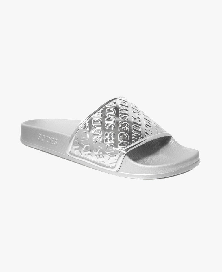 Slydes - Chance Silver Women's Slider Sandals - The Worlds Best Sliders & Sandals