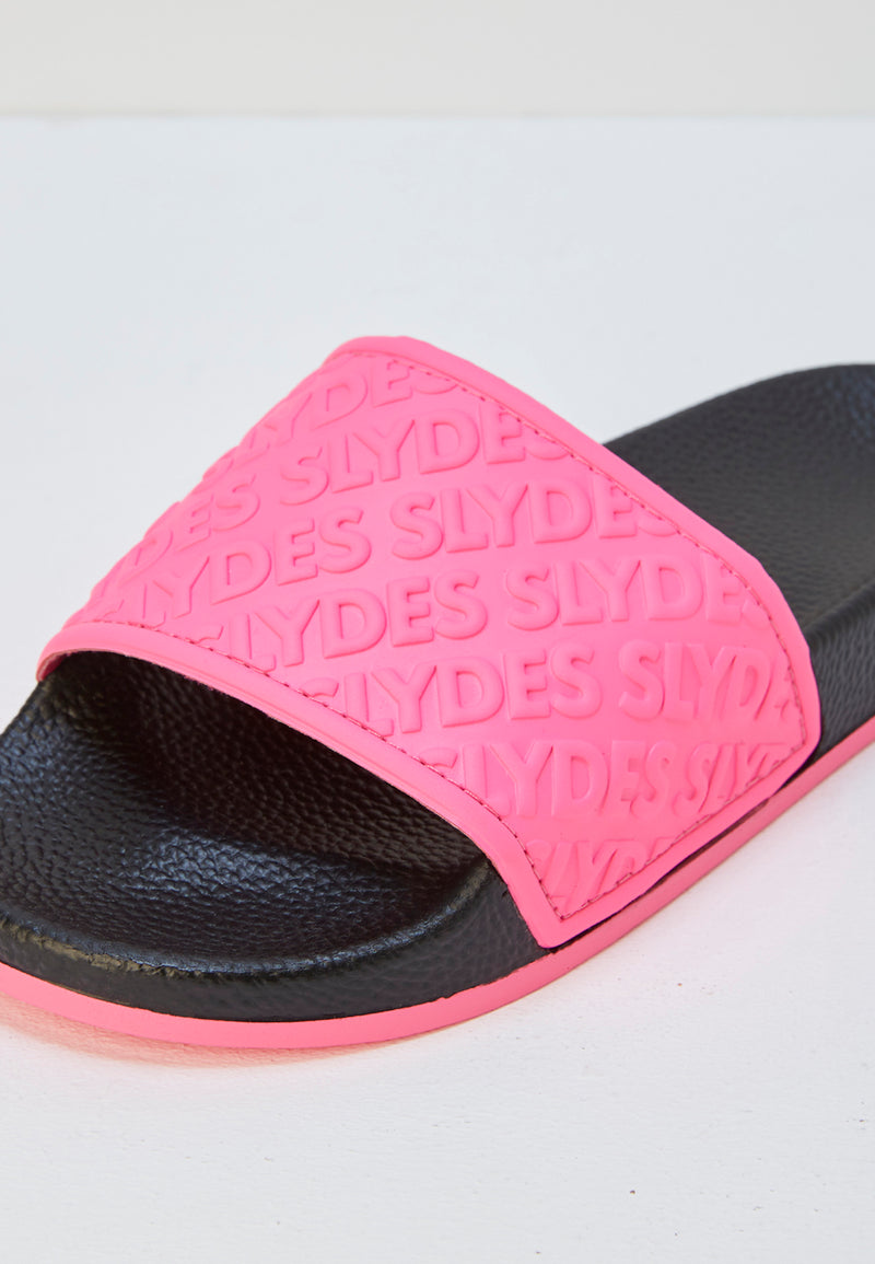 Slydes - Aria Women's Black/Neon Pink Sliders - The Worlds Best Sliders & Sandals