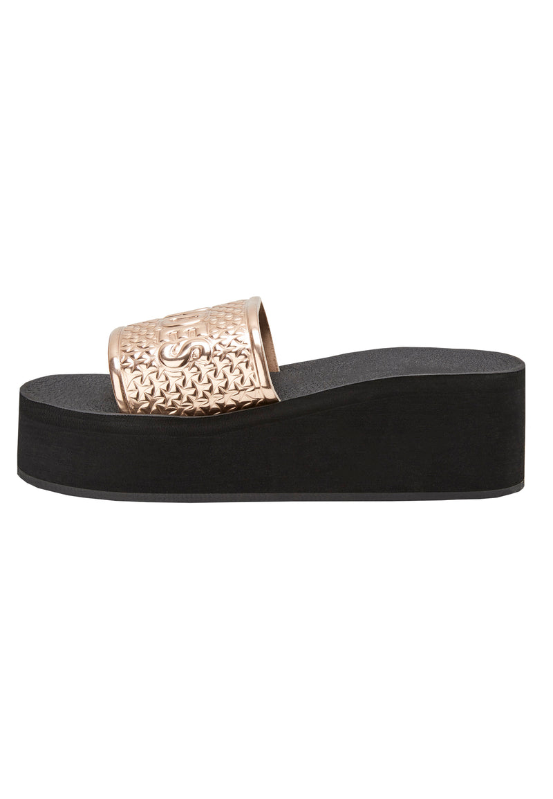 Slydes - Bronx Women's Black/Rose Gold Sliders - The Worlds Best Sliders & Sandals