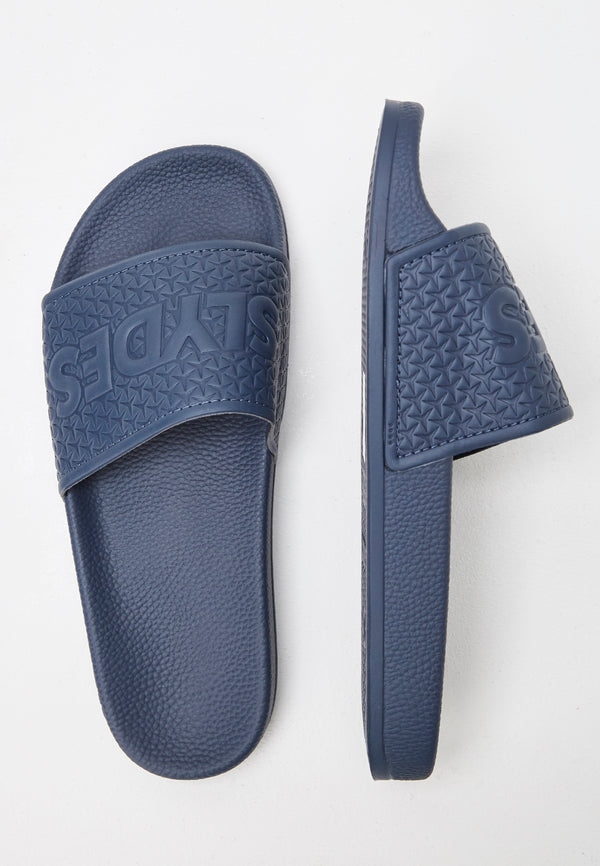 Slydes - Cali Men's Navy Sliders - The Worlds Best Sliders & Sandals
