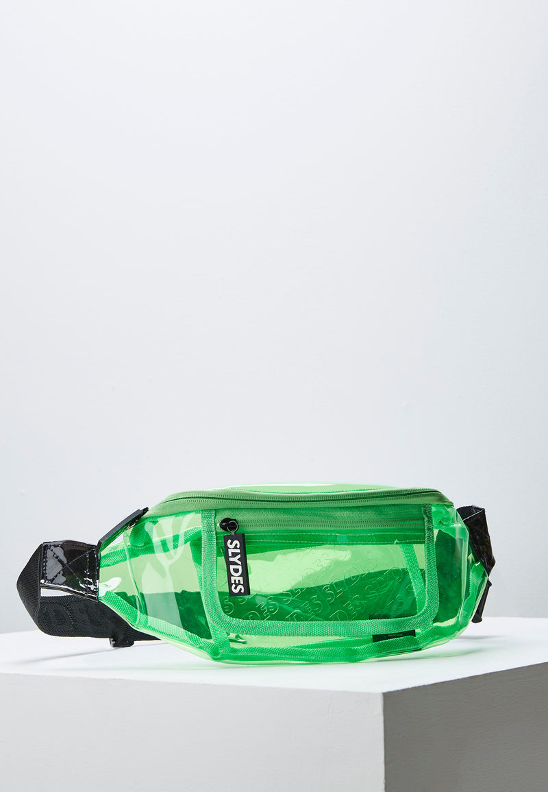 Slydes - Crystal Neon Green Bum Bag - The Worlds Best Sliders & Sandals