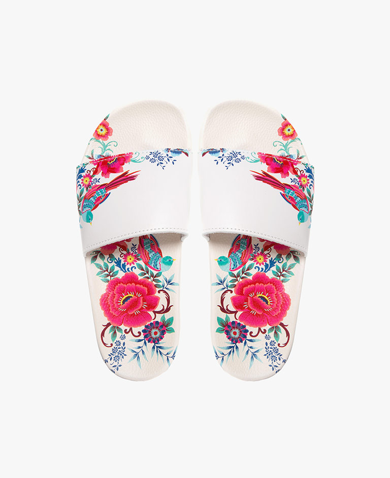 Slydes - Cabana Floral Women's Slider Sandals - The Worlds Best Sliders & Sandals