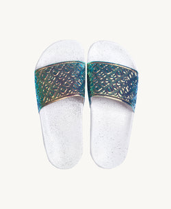 Chance Day White Women's Slider Sandals - Slydes