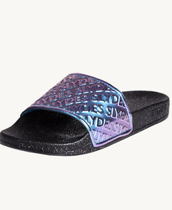Chance Night Black Women's Slider Sandals - Slydes