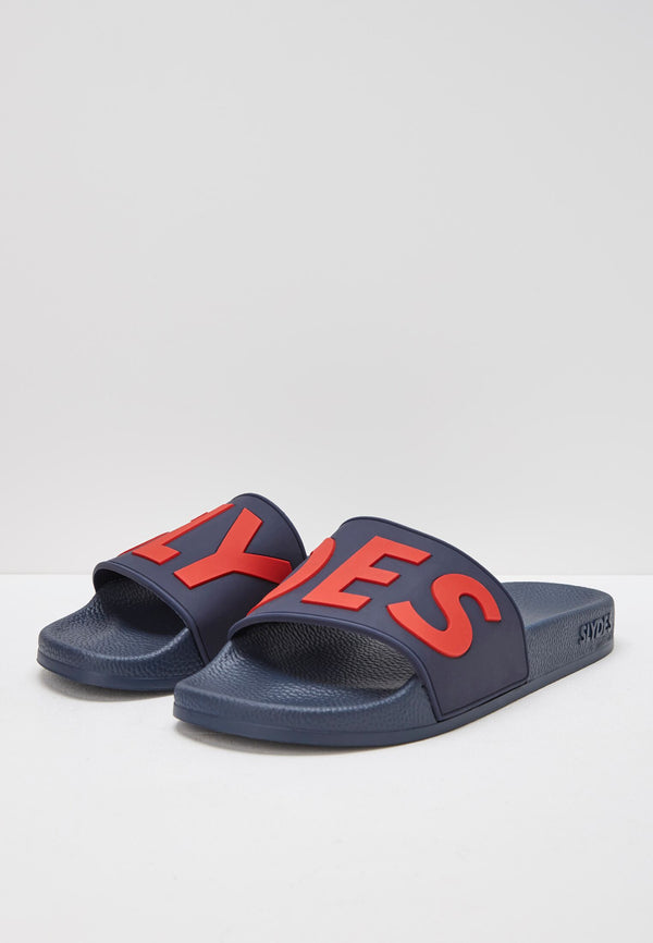 Slydes - Deflect Men's Navy Sliders - The Worlds Best Sliders & Sandals