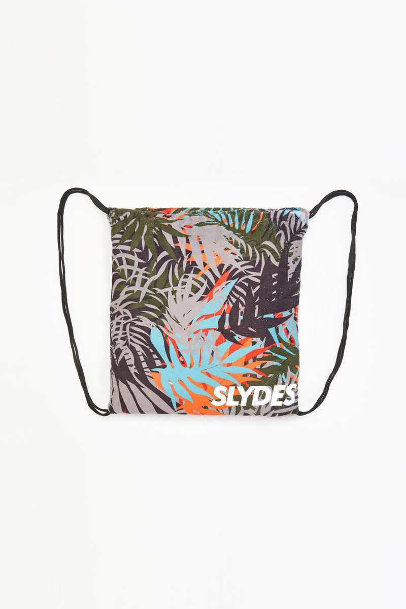 Slydes - Cyber Dark Print Convertible Beach Towel and Drawstring Bag - The Worlds Best Sliders & Sandals
