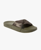 Dessa Twist Fabric Kahki Women's Slider Sandals - Slydes