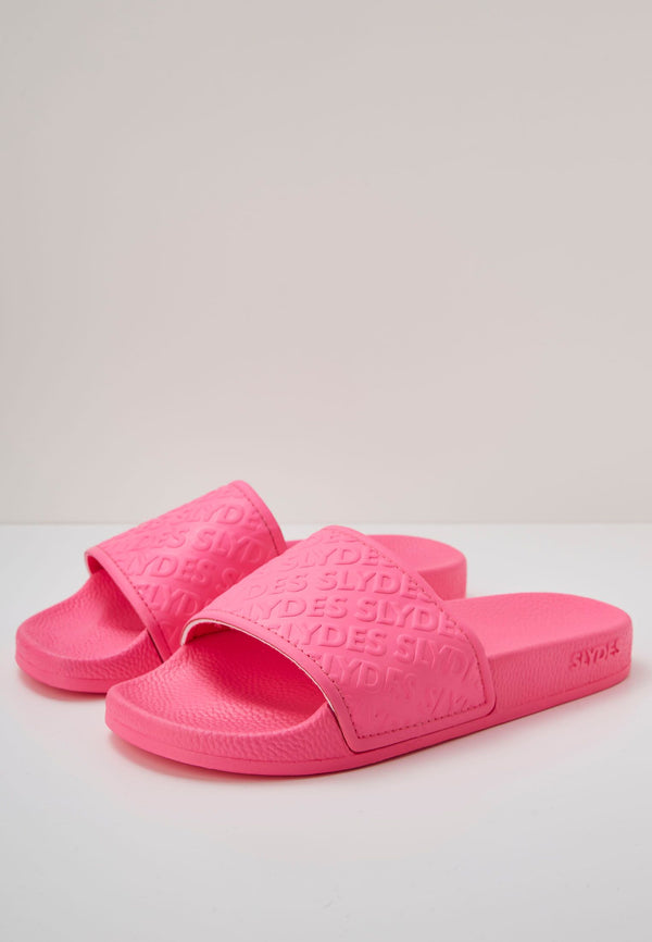 Slydes - Chance Women's Neon Pink Sliders - The Worlds Best Sliders & Sandals