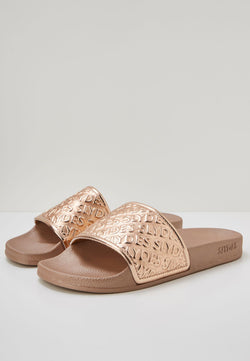 Slydes - Chance Women's Rose Gold Sliders - The Worlds Best Sliders & Sandals