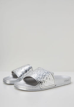 Slydes - Chance Women's Silver Sliders - The Worlds Best Sliders & Sandals