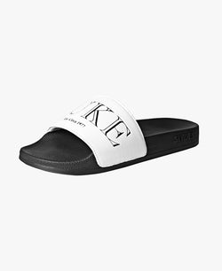 Luke X Hawser White Slider Sandals - Slydes