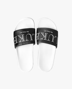 Luke X Hawser Black Slider Sandals - Slydes