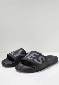 Slydes - Deflect Men's Black Sliders - The Worlds Best Sliders & Sandals