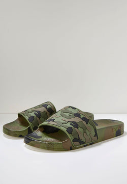 Slydes - Loco Men's Khaki Camo Sliders - The Worlds Best Sliders & Sandals