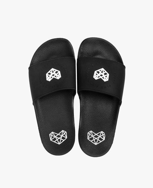 Pink Soda Ade Black Slider Sandals - Slydes